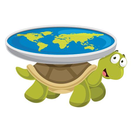 Vector Illustration Of Cartoon Turtle Vettoriali