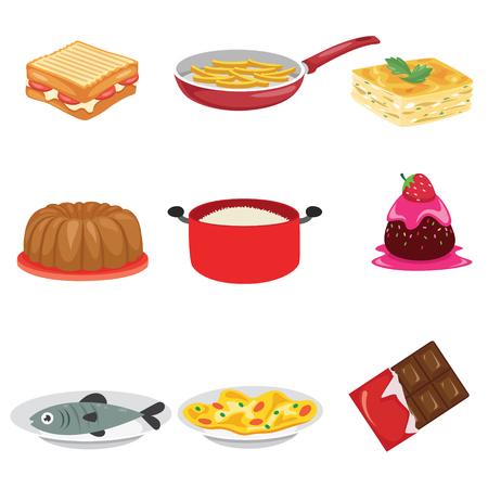 Vector Illustratie Van Voedsel