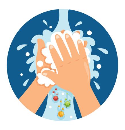 Vektor-Illustration des Händewaschens Vektorgrafik