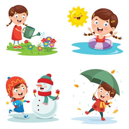 Illustration vectorielle des saisons