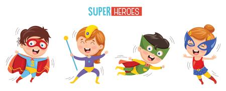 Vector Illustratie Van Superhelden Vector Illustratie