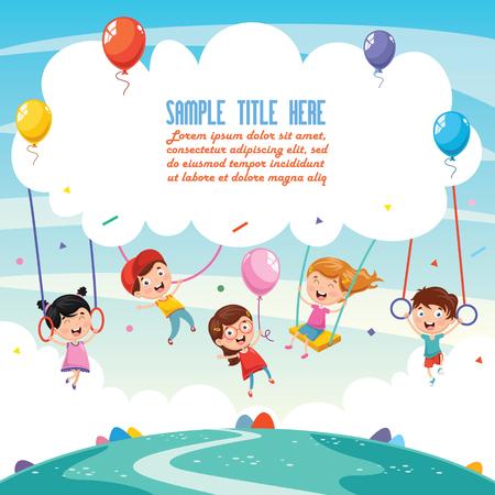 Illustration Of Children Background