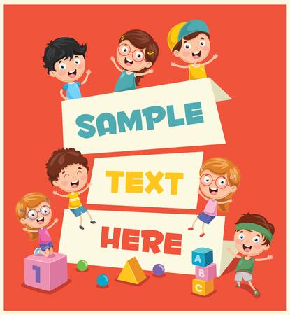 Ilustración de la bandera de los niños