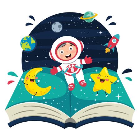 Ilustración de vector de astronauta