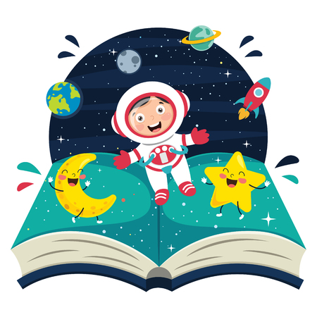 Vector Illustration Of Spaceman