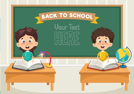 Illustratie van studenten