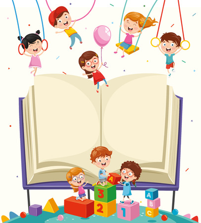 Vector illustration of school elements isolated on a white background Vector Illustration