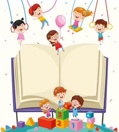 Vektor-Illustration von Schulelementen isoliert auf weißem Hintergrund Vektorgrafik