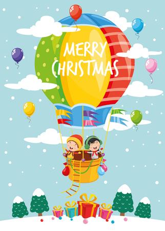 Vektor-Illustration von Weihnachtselementen