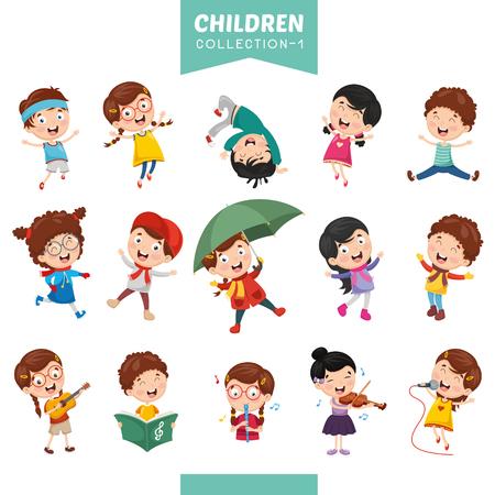 Vektor-Illustration von Cartoon-Kindern