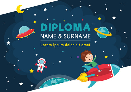 Vector Illustration Of Diploma