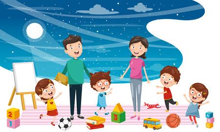 Illustration vectorielle de fond d'enfants