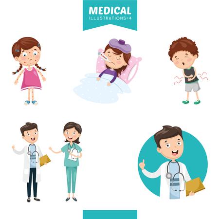 Ilustración vectorial de médicos