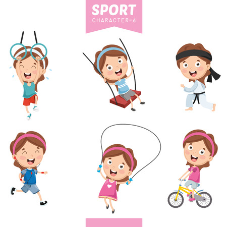 Vector Illustration Of Sport Character 스톡 콘텐츠 - 112470062