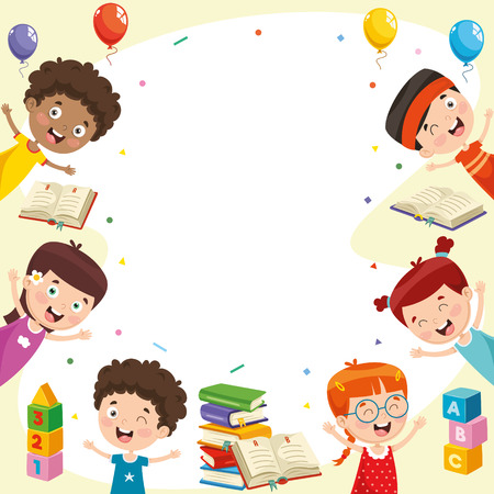 Vector Illustration Of Students Foto de archivo - 112470165