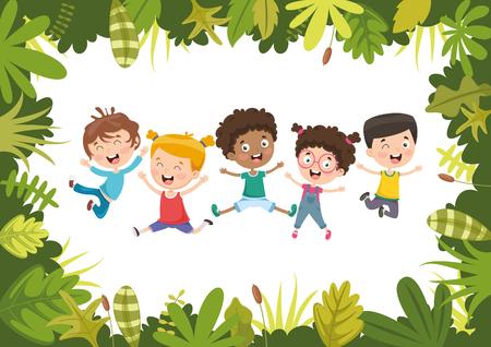 Vektor-Illustration der Kindernatur