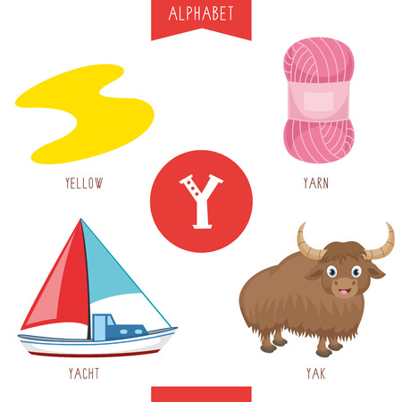 Vector Illustration Of Alphabet Letter Y And Pictures Vecteurs