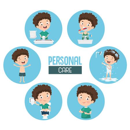 Ilustración de vector de cuidado personal