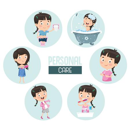 Illustration vectorielle de soins personnels Vecteurs