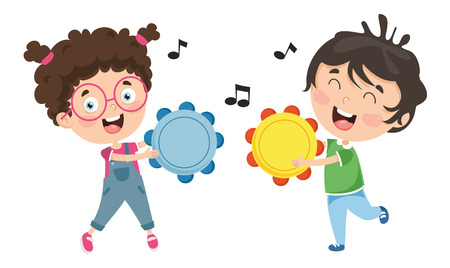 Vector Illustration Of Kids Music Illustration