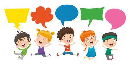 Vector Illustration Of Kids Speech Bubble Vektoros illusztráció