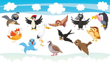 Vector Illustration Of Cartoon Birds Stock Vector - 114680516