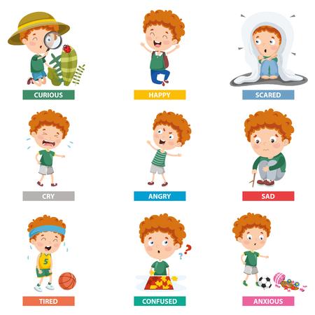 Vector Illustration Of Cartoon Character Vetores