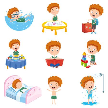 Ilustración de vector de personaje de dibujos animados Ilustración de vector