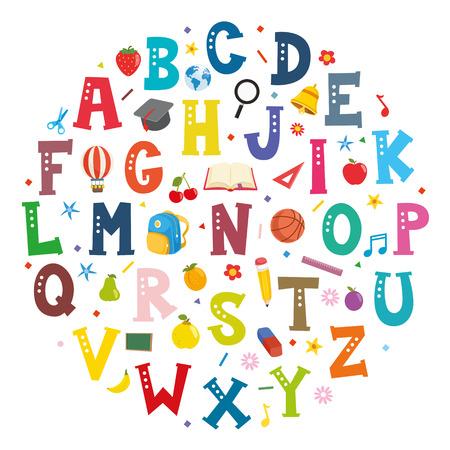 Vector Illustration Of Font Concept Design 벡터 (일러스트)