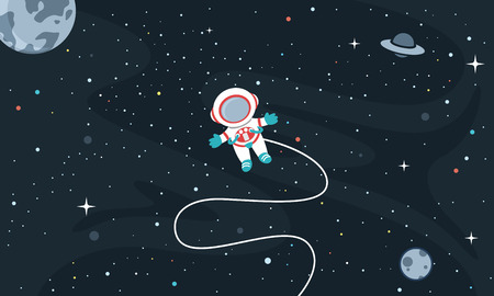 Vector Illustration Of Space Background Ilustrace