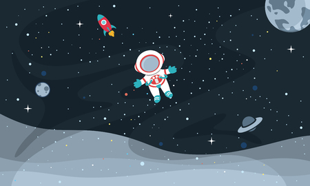 Vector Illustration Of Space Background  イラスト・ベクター素材