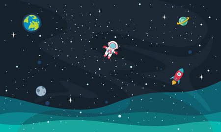 Vector Illustration Of Space Background Illustration
