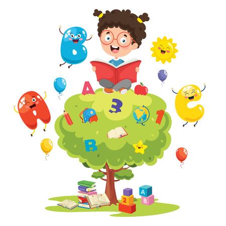 Vector Illustration Of Children Education Concept