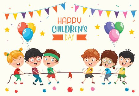 Vector Illustration Of Happy Children's Day