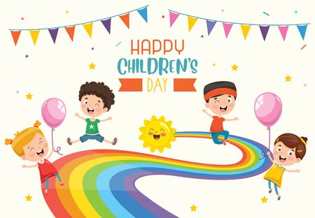 Vector Illustration Of Happy Childrens Day