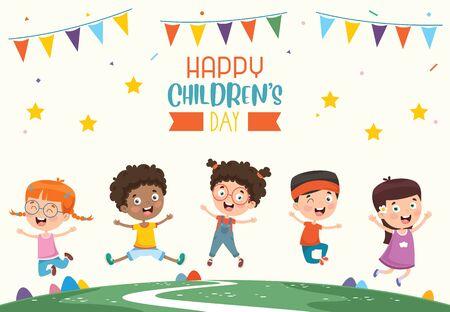 Vector Illustration Of Happy Children's Day