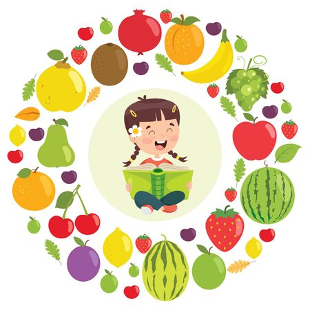 Vector Illustration Of Children Education