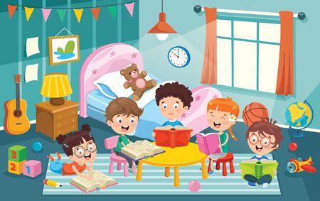 Kinder haben Spaß in einem Raum