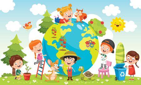 Bambini che si divertono con la terra