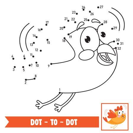 Ilustración de juego de punto a punto para educación infantil
