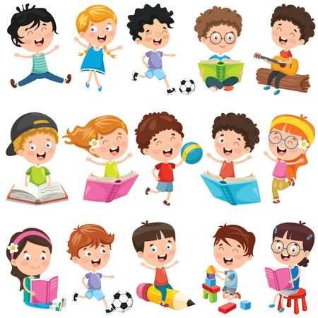 Collection Of Little Cartoon Children