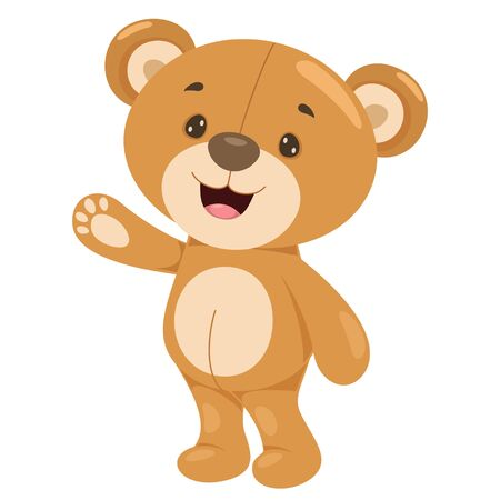 Kleine lustige Teddybär-Karikatur