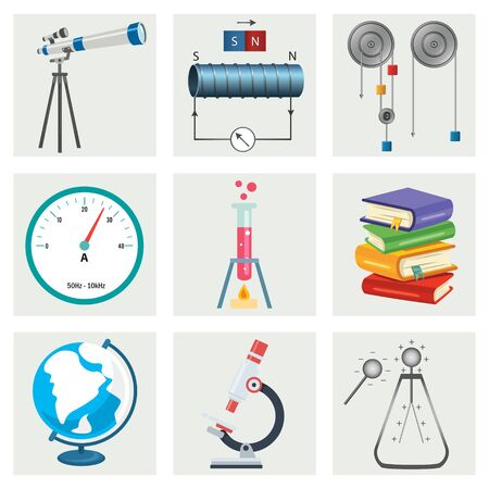 Set Of Physics And Chemistry Equipments