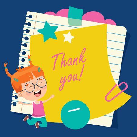 Blank Note Paper For Children Education Stock Illustratie