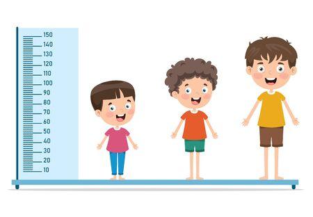 Misura dell'altezza per i bambini piccoli