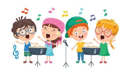 Drôles de petits enfants jouant de la musique