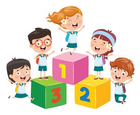 Concept Design For Children Education Vecteurs