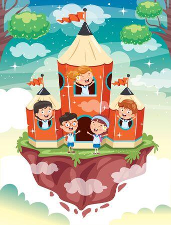 Magic Concept Design With Funny Children