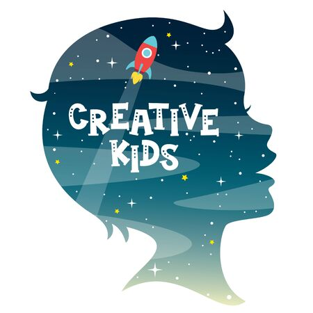 Concept Design With Kids Silhouette Illustration