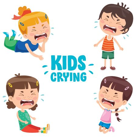 Cute Little Children Are Crying